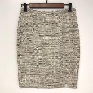 Ann Taylor   tweed linen woven pencil skirt 2